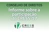 Informe sobre a participação do CRESS 17ª Região em conselhos de direitos